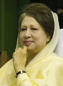 Begum Khaleda Zia, former Bangladesh Prime Minister and chairperson of Bangladesh Nationalist Party, is photographed as she appeared as the chief guest in a book opening ceremony on 1 March, 2010 at the Diploma Engineers Institute, Dhaka.