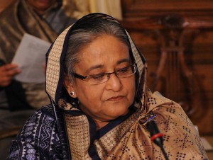 Sheikh Hasina, Prime Minister of Bangladesh at the Olympic hunger summit in Downing Street, 12, August 2012 (www.Flickr.com)